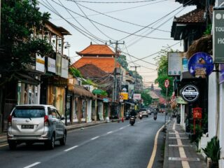 Bali officials have finally installed the wiring system on the main street of Ubud under the ground.